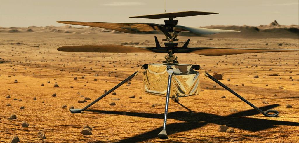 La NASA s'apprête à effectuer le premier vol de son hélicoptère Ingenuity sur Mars