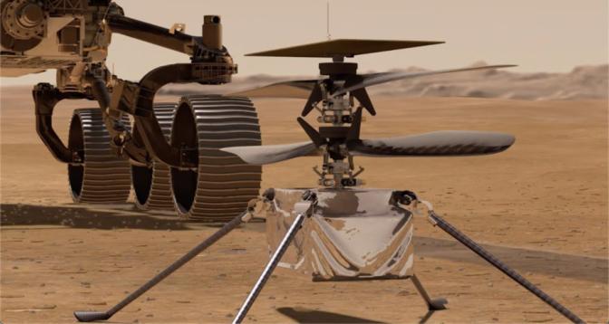 """""""ناسا"""" تؤجل أولى طلعات مروحية """"إنجينيويتي"""" فوق المريخ"""
