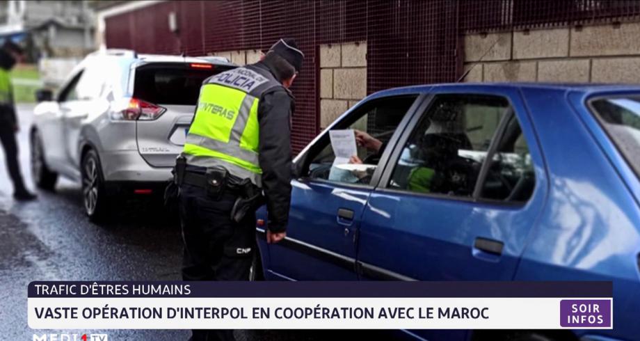 Vaste opération d'interpol en coopération avec le Maroc