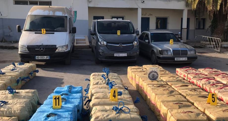 Nador: avortement d'une tentative de trafic international de drogue, 4,779 tonnes de chira saisies