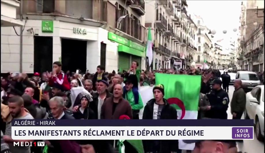 Hirak: les manifestants réclament le départ du régime