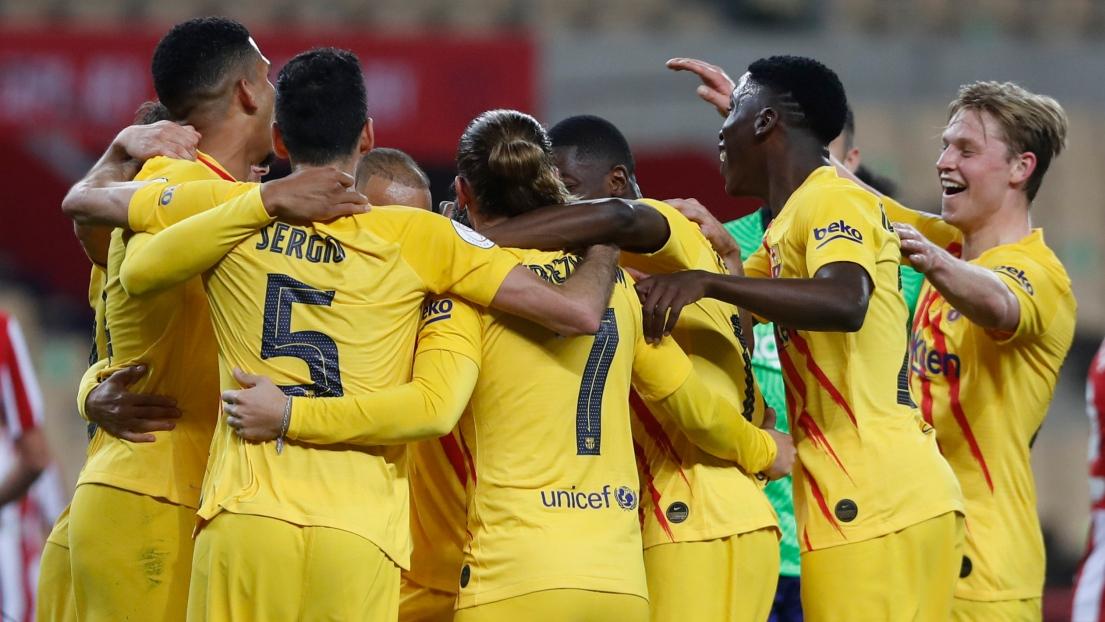 Espagne: le FC Barcelone remporte sa 31e Coupe du Roi après son récital 4-0 contre l'Athletic Bilbao