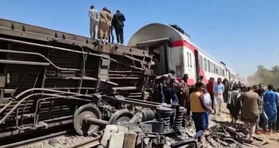 Egypte: au moins 97 blessés dans un accident de train