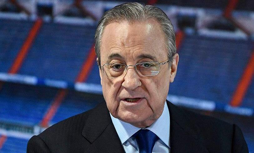 """Foot : Florentino Pérez (Real Madrid), président de la """"Super League"""""""