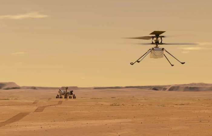 """""""ناسا"""" تطلق أول مروحية فوق المريخ (فيديو)"""