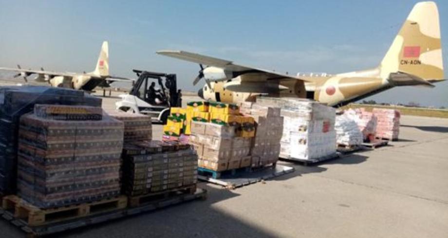 وصول آخر دفعة من المساعدات الغذائية الموجهة بتعليمات ملكية سامية لفائدة القوات المسلحة اللبنانية والشعب اللبناني