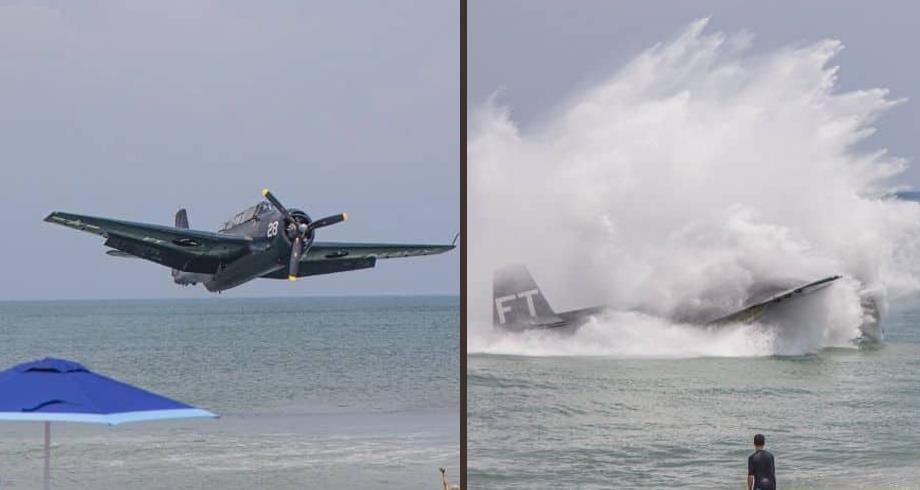 فيديو .. سقوط طائرة في البحر يثير هلع مصطافين بفلوريدا