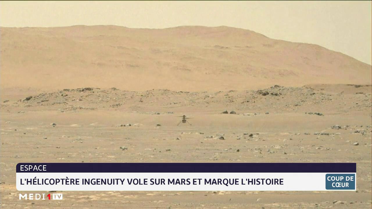 Coup de cœur du 20-04-21: l'hélicoptère Ingenuity vole sur Mars et marque l'histoire