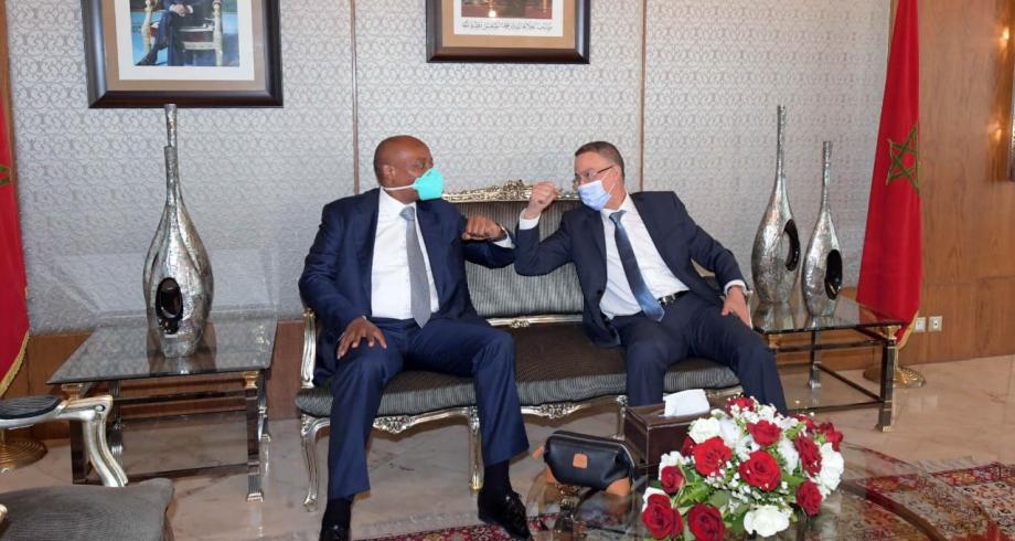 Le président de la CAF en visite au Maroc