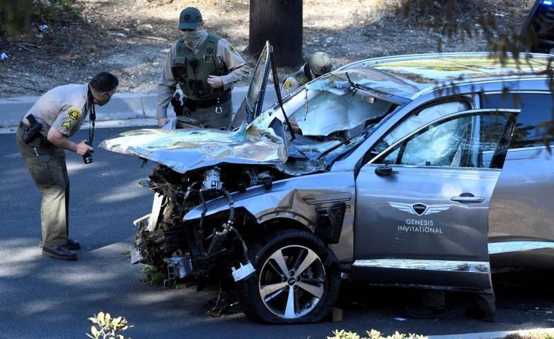 الغولف ..الأمريكي تايغر وودز يظهر لأول مرة بعد حادث السير الخطير