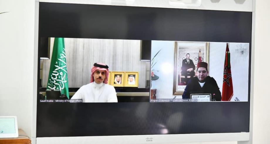 ناصر بوريطة يجري مباحثات مع نظيره السعودي