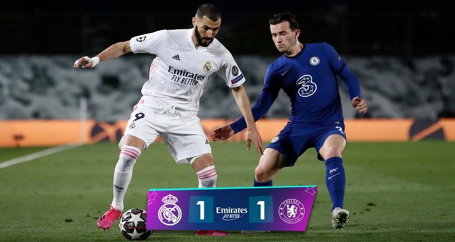Ligue des Champions: le Real Madrid tenu en échec par Chelsea