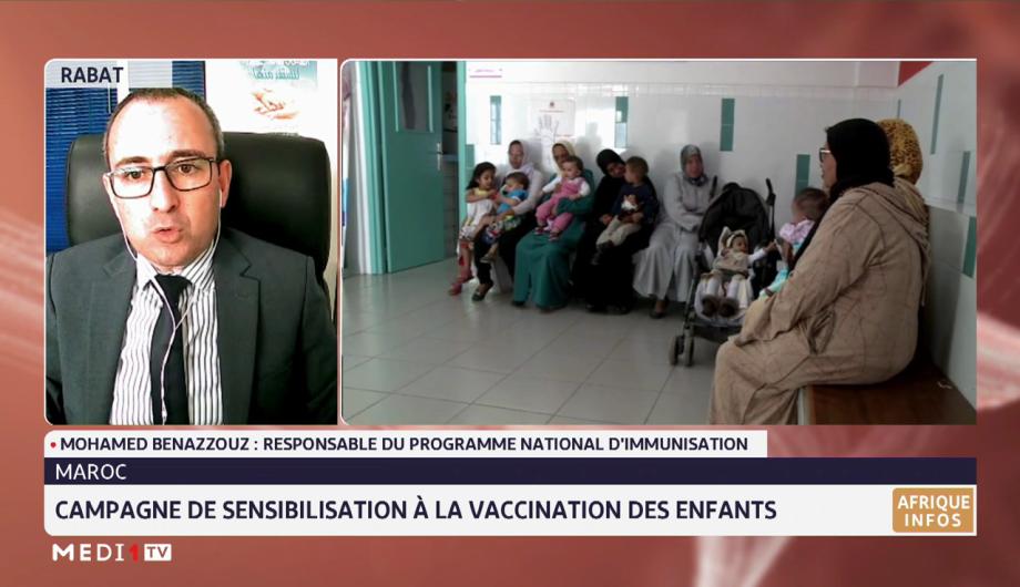 Le point sur la campagne de sensibilisation à la vaccination des enfants avec Mohamed Benazzouz