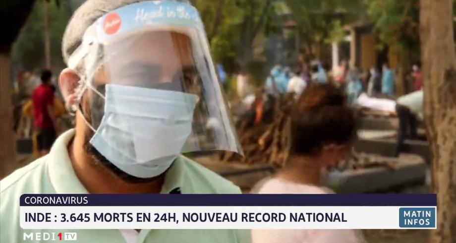 Coronavirus en Inde: 3.645 morts en 24h, nouveau record national