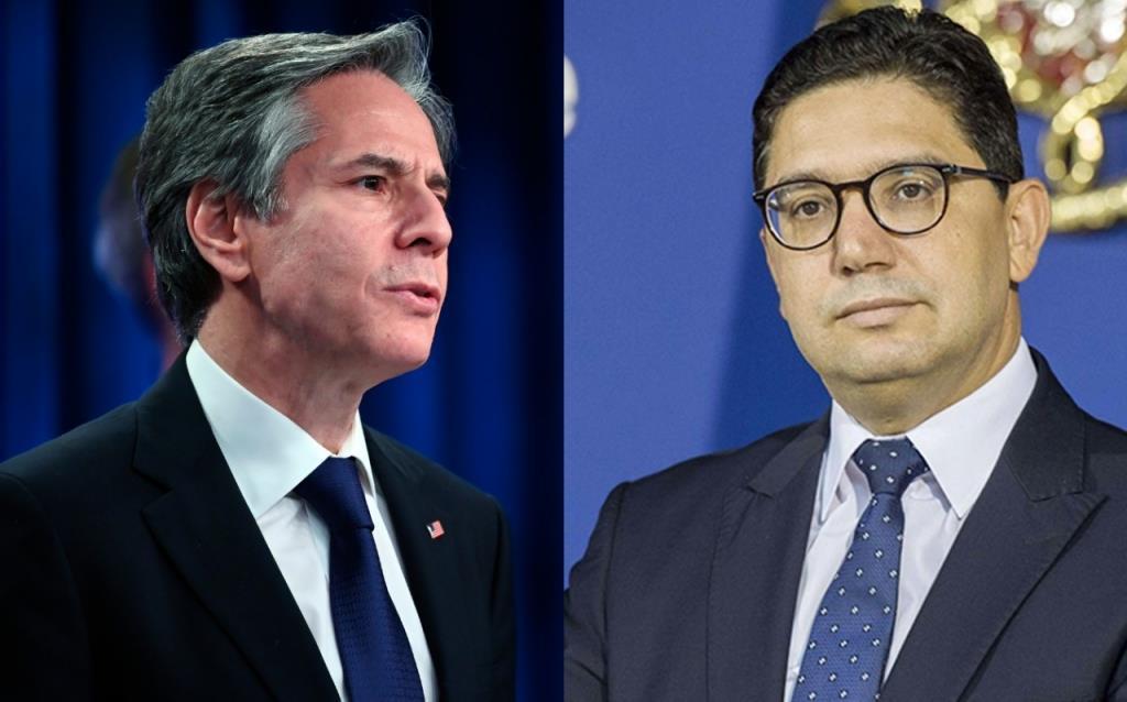مباحثات هاتفية بين وزير الخارجية المغربي ونظيره الأمريكي