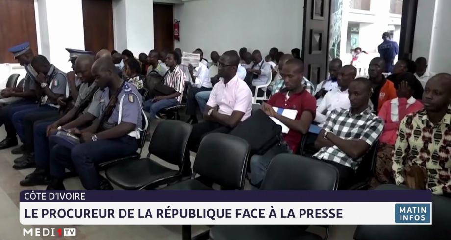 Côte d'Ivoire: le procureur de la république face à la presse