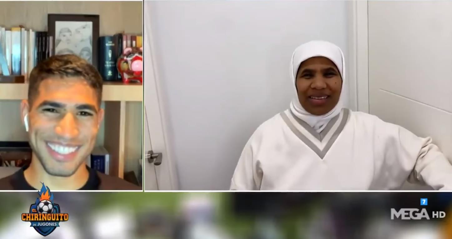 والدة أشرف حكيمي تهنئ ابنها بالتتويج بالدوري الإيطالي