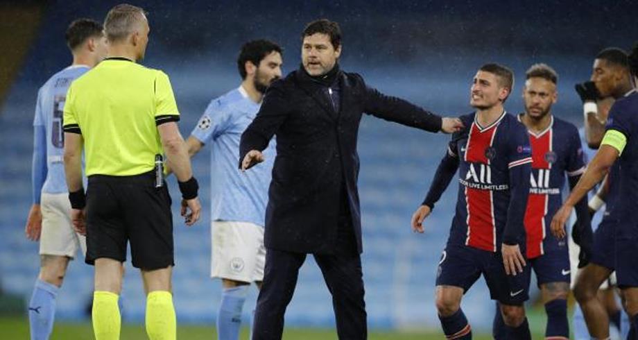الحكم أهان لاعبي سان جرمان بحسب فيراتي وهيريرا