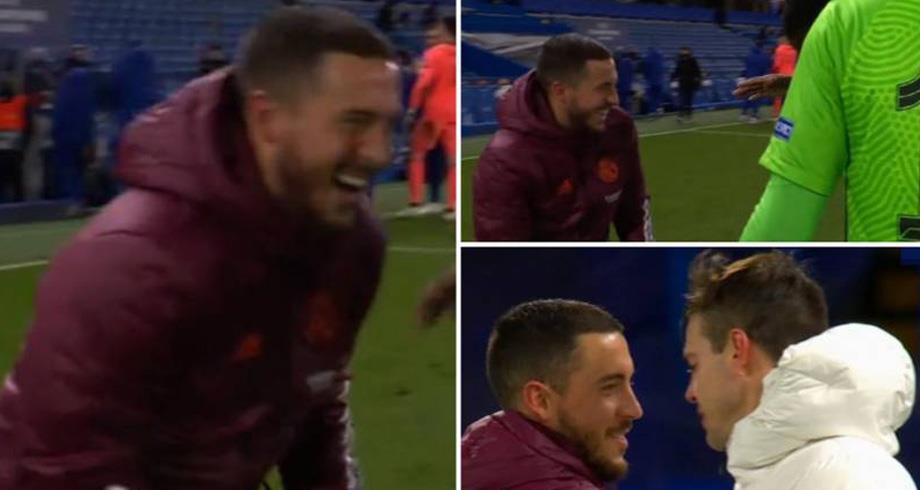 Hazard s'excuse pour avoir ri avec des joueurs de Chelsea après l'élimination du Real