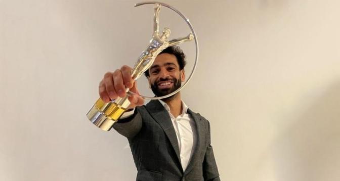 """محمد صلاح يتوج بجائزة """"لوريوس"""" للإلهام الرياضي"""