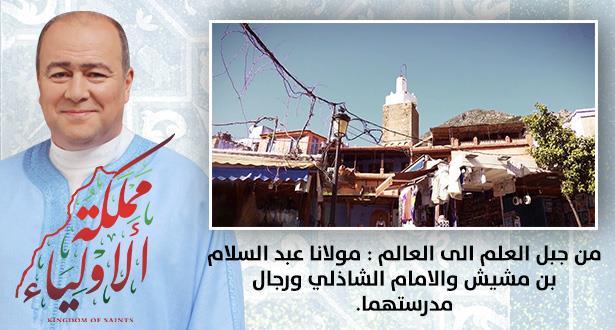 من جبل العلم الى العالم  : مولانا عبد السلام بن مشيش والامام الشاذلي ورجال مدرستهما .