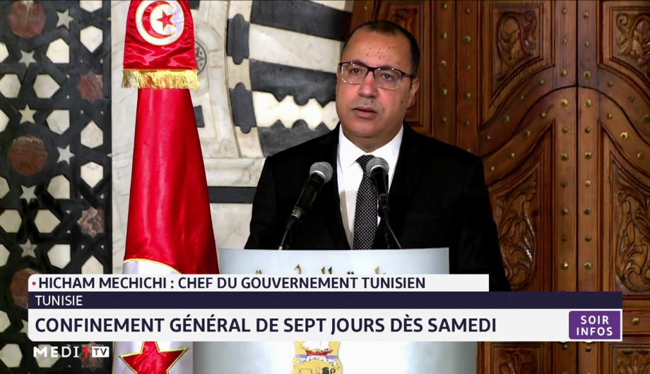 Covid-19: confinement général de sept jours en Tunisie à partir de samedi