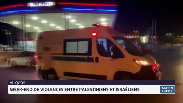 Weekend de violences entre Palestiniens et Israéliens