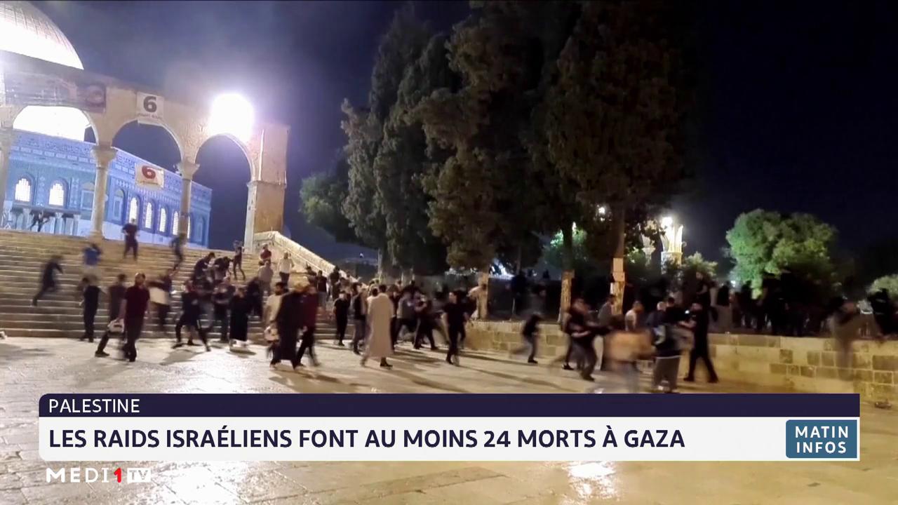 Palestine: Les raids israéliens font au moins 24 morts à Gaza