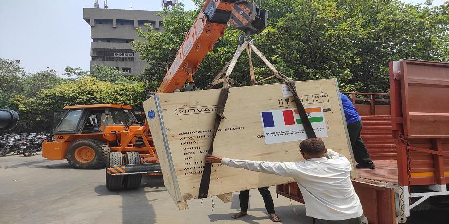 Covid-19: La France envoie du matériel médical à destination de l'Inde