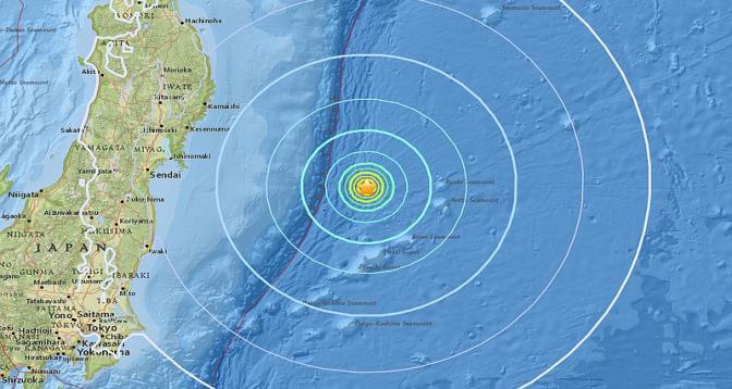 زلزال بقوة 6 درجات يضرب منطقة قبالة محافظة فوكوشيما اليابانية