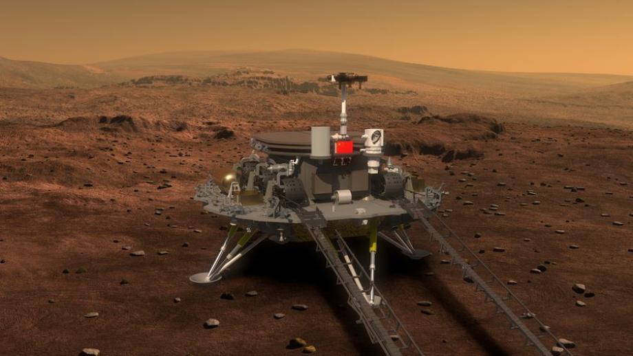 La Chine s'apprête à faire atterrir sur Mars son robot téléguidé