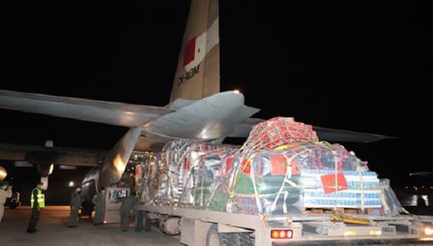 Aide humanitaire au profit des Palestiniens: départ d'un deuxième avion militaire vers Amman