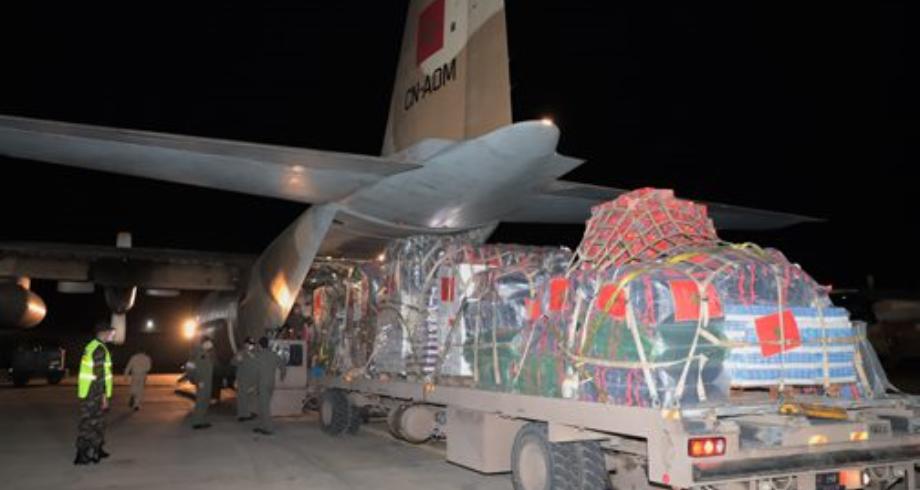 مساعدات عاجلة للفلسطينيين .. مغادرة طائرة عسكرية في اتجاه القاهرة