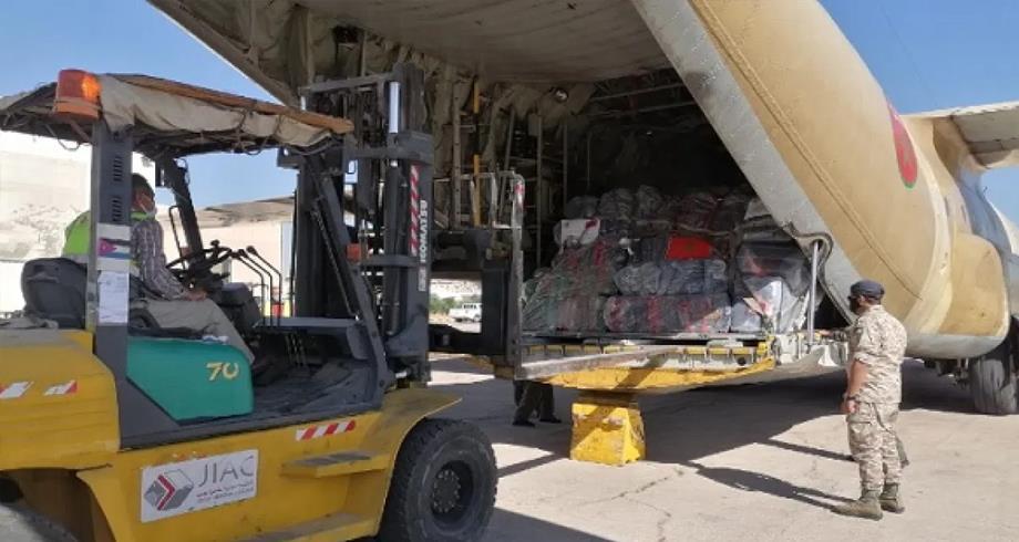القاهرة ... وصول المساعدات المغربية الموجهة لفائدة الشعب الفلسطيني
