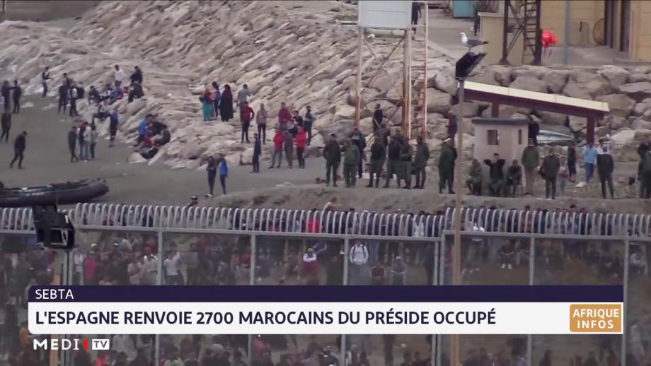 Sebta: l'Espagne renvoie 2.700 marocains du préside occupé