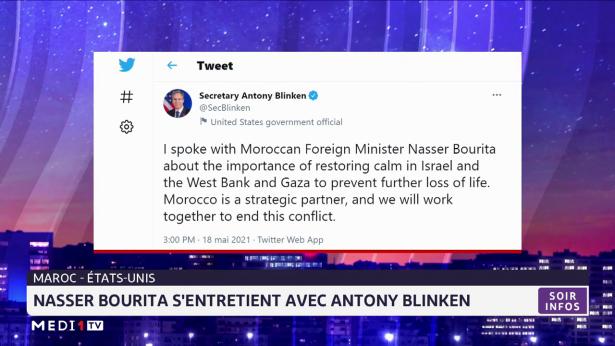 Maroc-USA: Nasser Bourita s'entretient avec Antony Blinken