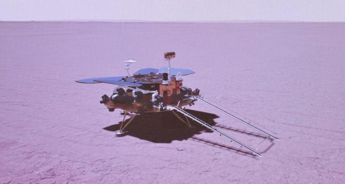 Le rover chinois parcourt près de 600 m sur Mars