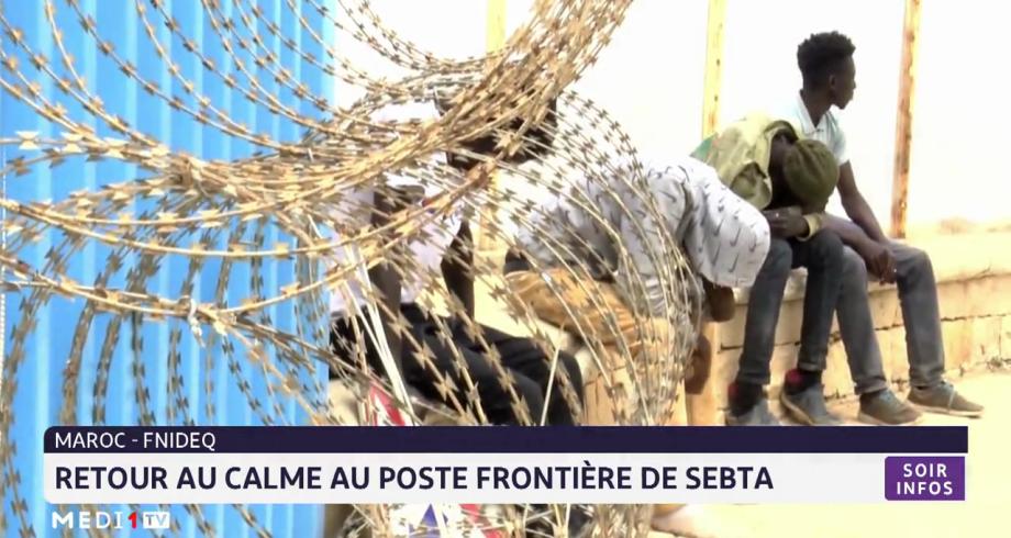 Retour au calme au poste-frontière de Sebta