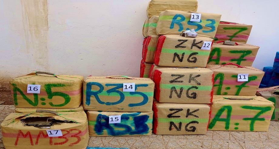 Saïdia: mise en échec d'une tentative de trafic de 4,3 tonnes de chira