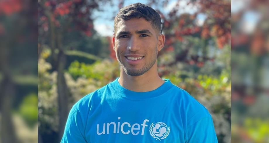 تعيين الدولي المغربي أشرف حكيمي بطلا لحقوق الطفل في المغرب