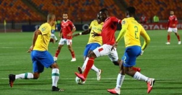 دوري أبطال إفريقيا ..الأهلي الى نصف النهائي بتعادله مع صندوانز