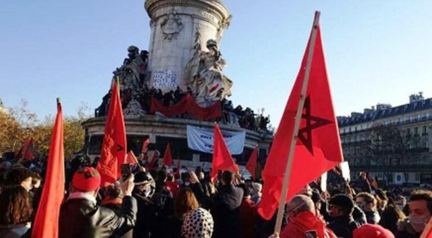 """""""غالي غيت"""".. وقفة احتجاجية بباريس للنسيج الجمعوي المغربي في فرنسا"""