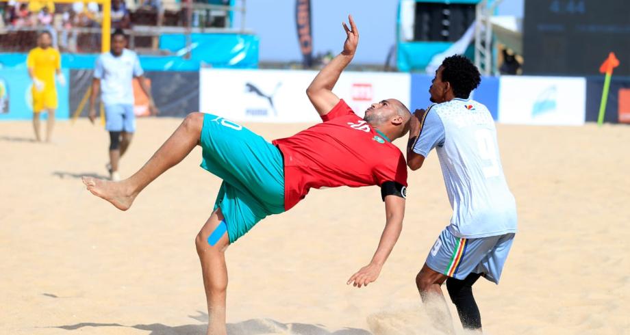 أمم إفريقيا لكرة القدم الشاطئية: المغرب يحقق فوزا عريضا على السيشل