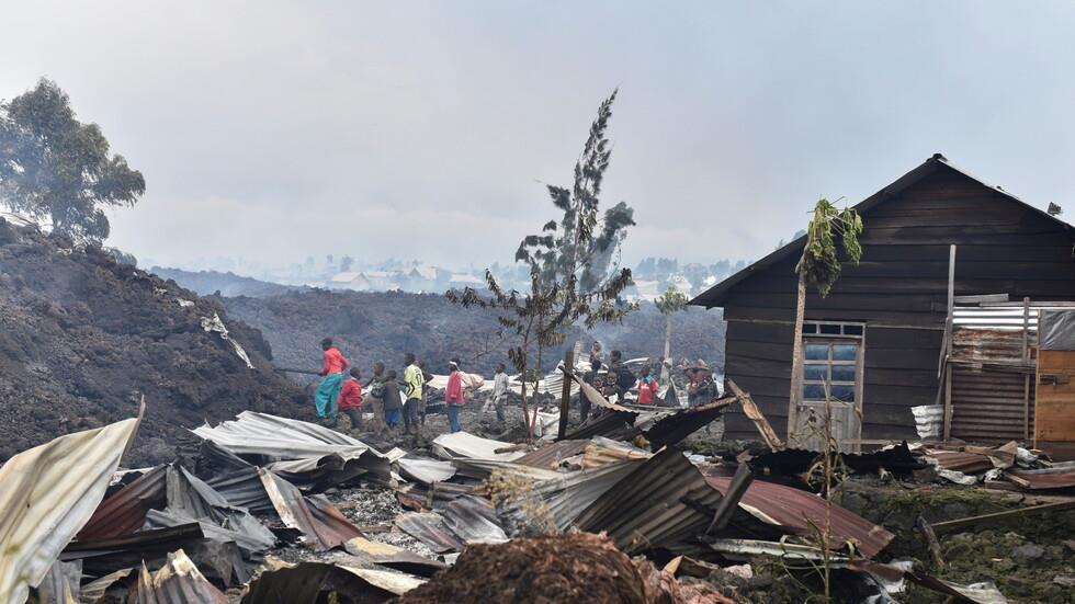 الكونغو الديمقراطية.. مصرع 13 شخصا على الأقل بعد ثوران بركان غوما