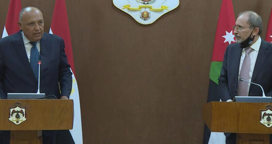 وزيرا خارجية الأردن ومصر يبحثان بعمان سبل إحياء عملية السلام بالشرق الأوسط