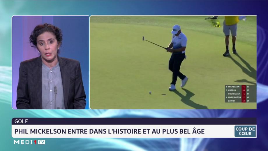 Golf: Phil Mikckelson entre dans l'histoire et au plus bel âge