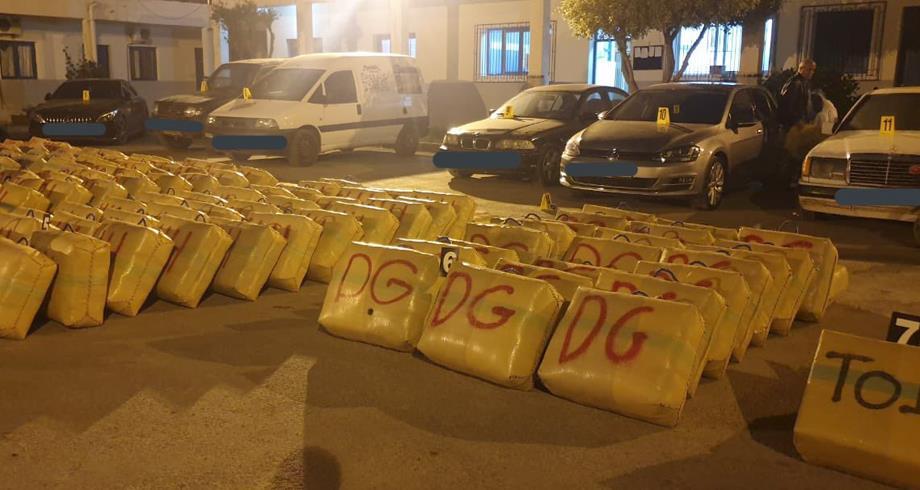 Nador : saisie de 5,030 tonnes de chira