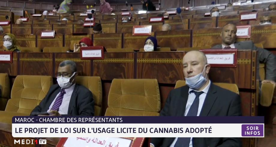Chambres des représentants: le projet de loi sur l'usage licite du cannabis adopté