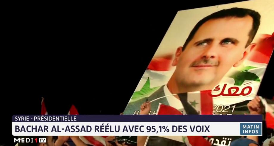 Présidentielle en Syrie: Bachar Al-Assad réélu avec 95,1% des voix