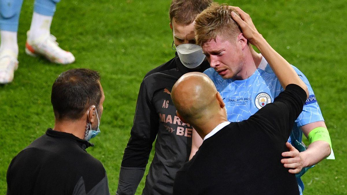 البلجيكي دي بروين يعاني من كسرين في الوجه